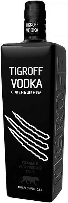Водка Tigroff with Ginseng 0.5